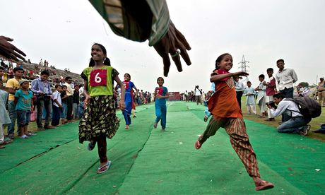 MDG : Disabled children race in Bhopal, India