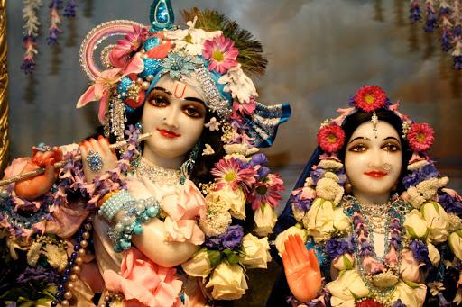 Sri Sri Radha-Murlidhar, presiding deities of the East Village Temple in New York City